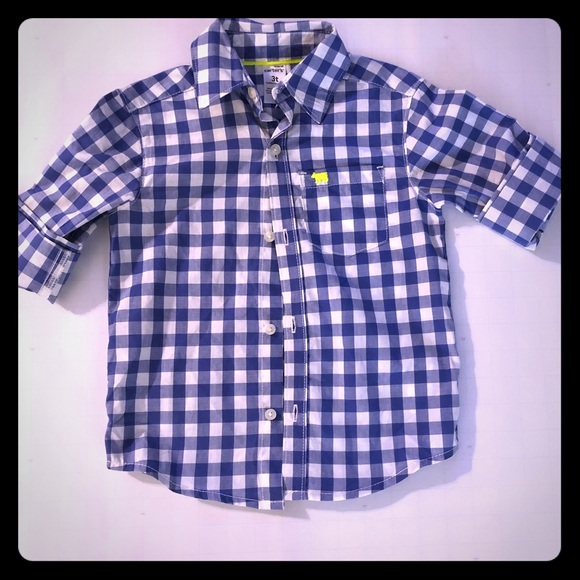 ee07ed95 Carter's Shirts & Tops   Carters Long Sleeve Blue Plaid Button Down ...